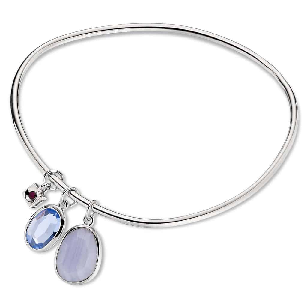Elle Blue Stone Bangle Michael Herr Diamonds Amp Fine Jewelry
