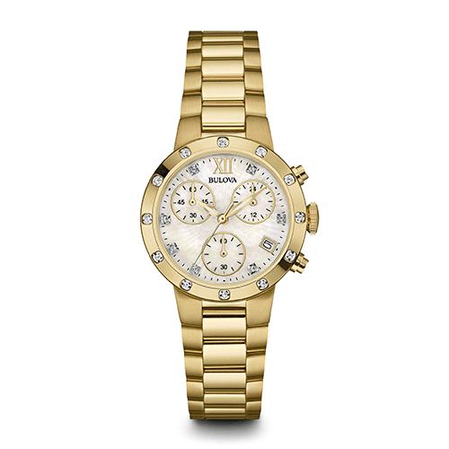 bulova 98r216 womens diamond chronograph watch