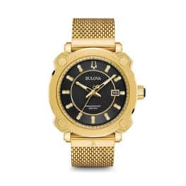 Bulova gold stainless mens Grammy watch.