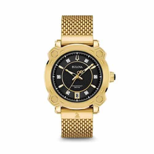 Bulova gold stainless womens Grammy watch.