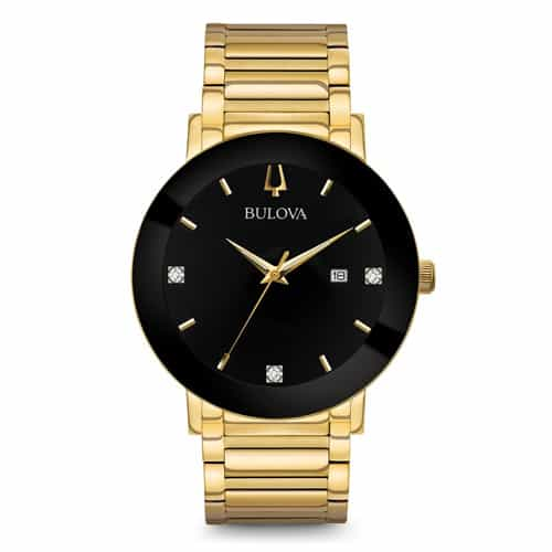 Bulova Men's Gold Modern Watch.