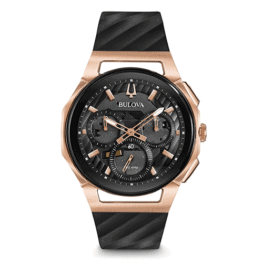 Bulova Men's Curv Chronograph Watch in Rose Gold