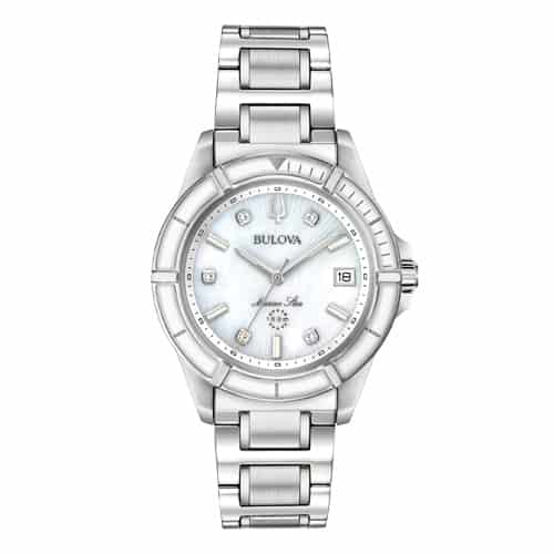 Bulova Women's Stainless Steel Marine Star Watch