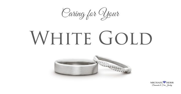 Caring for your white gold jewelry.