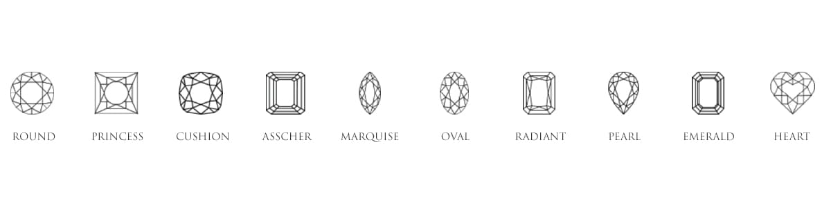 Choosing the right diamond shape for an Engagement Ring.