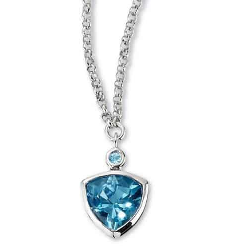 Elle Contemporary Blue Topaz Necklace