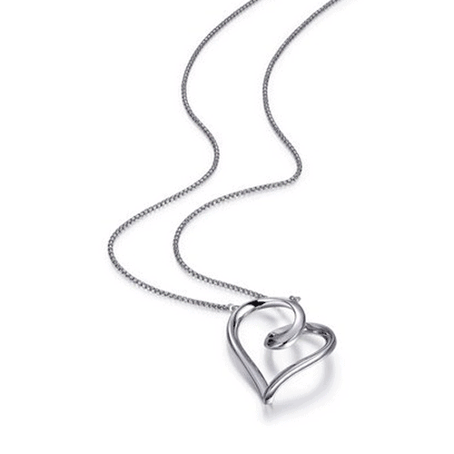 elle eternity collection heart necklace n0809