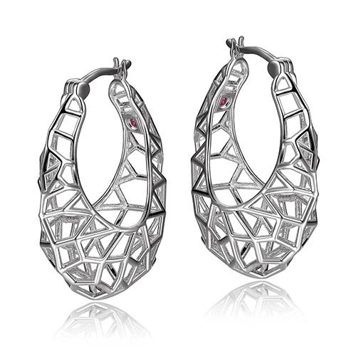 elle sterling silver webbed hoop earrings