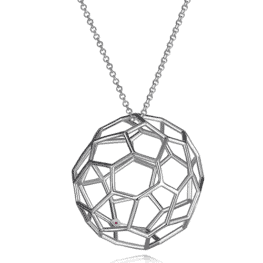 elle sterling silver webbed pendant necklace