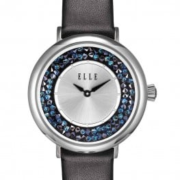Elle Black Crystal Rock Watch
