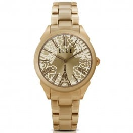 Elle Homage Rose Gold Eiffel Tower Watch