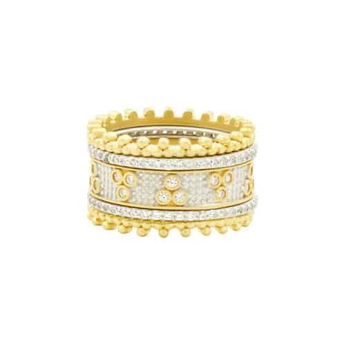 Freida Rothman Fleur Bloom 5 stack rings.