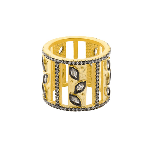 freida rothman fleur bloom petal cigar band ring