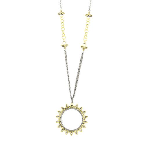 Freida Rothman Fleur Bloom Wreath Pendant Necklace