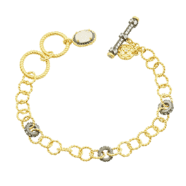 Freida Rothman Gilded Cable Soft Chain Bracelet.