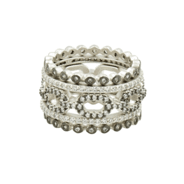 freida rothman industrial finish five stack ring
