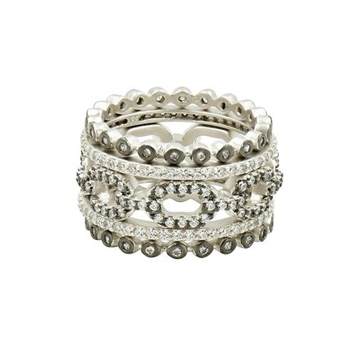 freida rothman industrial finish five stack ring
