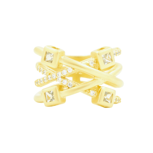 Freida Rothman ocean azure branded ring.