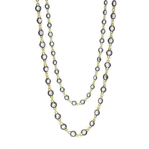 Freida Rothman Signature Radiance Wrap Necklace.