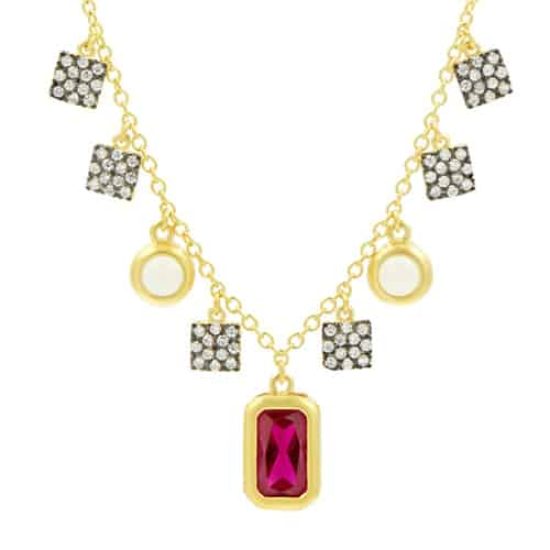 Freida Rothman rouge charm necklace.