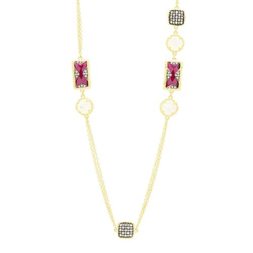Freida Rothman rouge station necklace.