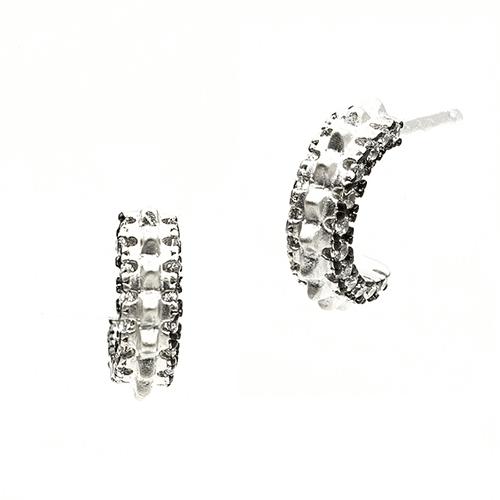 Freida Rothman Round Post Earrings.