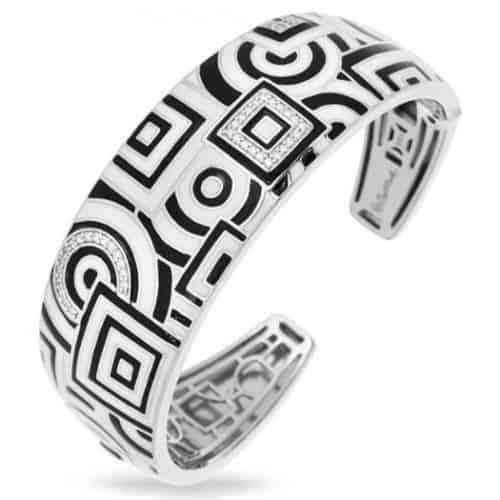 Belle etoile Geometrica Black & White Bangle
