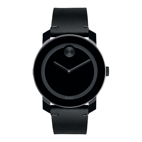 Large Movado Bold Black Mens Watch at Michael Herr in St. Louis.