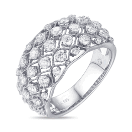 luvente 14k white gold round diamond ring r01248