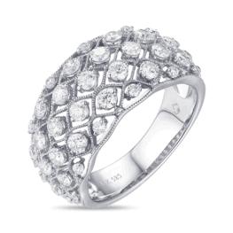 luvente 14k white gold round diamond ring r01248
