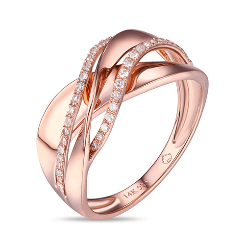 Luvente 14k rose gold diamond ring michael herr diamonds for Lindenwold fine jewelers jewelry showroom price