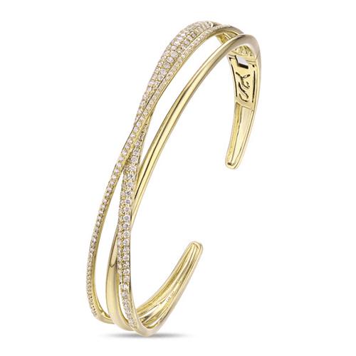luvente yellow gold diamond bracelet