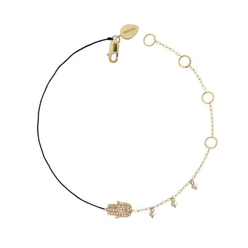 meira t 1b5312 hamsa hand bracelet with side pearls