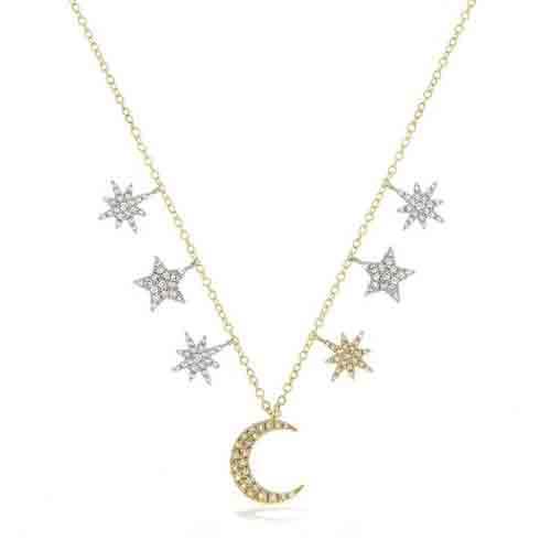 Meira T celestial diamond necklace.