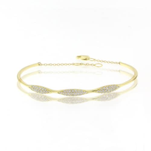 Meira T gold diamond cuff.