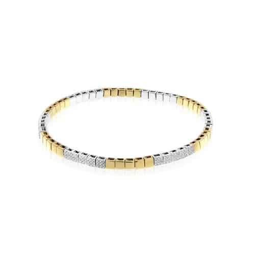 Meira T Gold Stretch Tennis Bracelet.