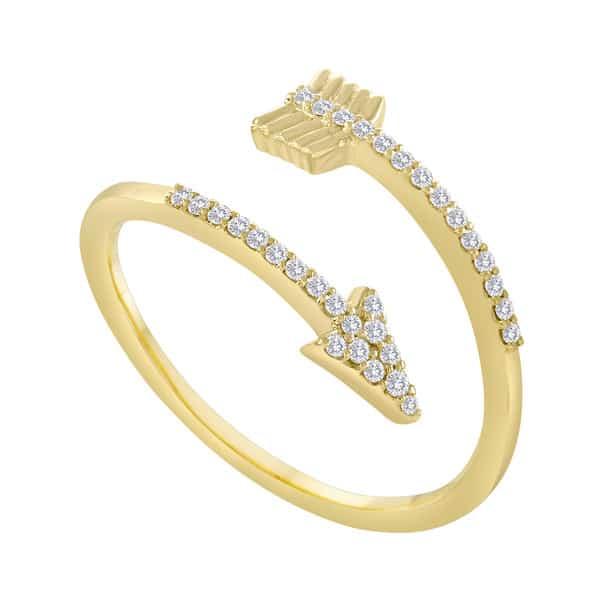 Meira t golden arrow wrap ring michael herr diamonds for Jewelry storm arrow ring