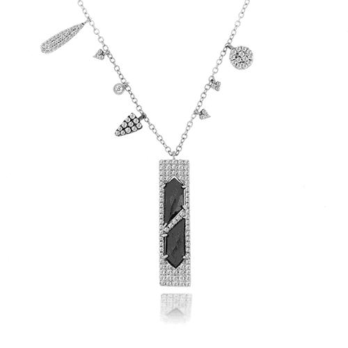 Meira t hematite off centered white gold charms necklace michael meira t hematite off centered white gold charms necklace mozeypictures Gallery