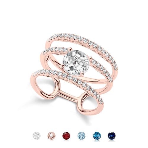 Meira T Lotus Rose Gold Engagement Ring