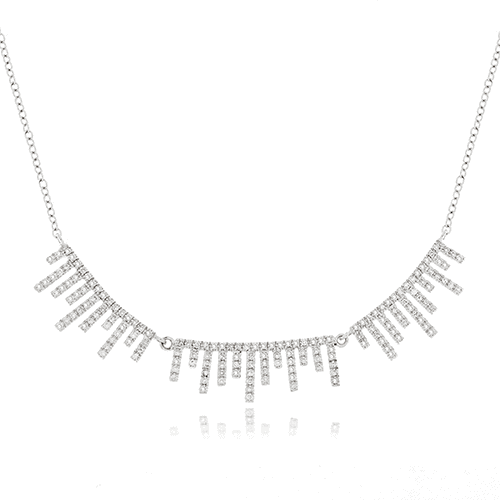 meira t pave diamond fringe necklace