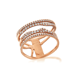 Meira T Rose Gold Illusion Ring.