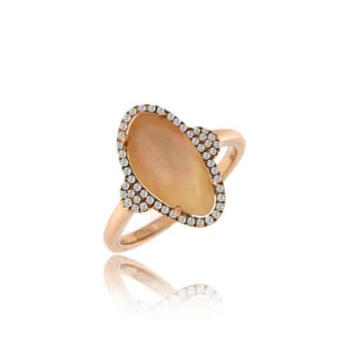 Meira T Rose Quartz Ring