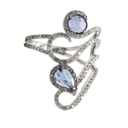 meira t spiral tanzanite ring white gold
