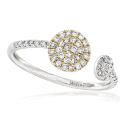meira t white gold open circle diamond ring