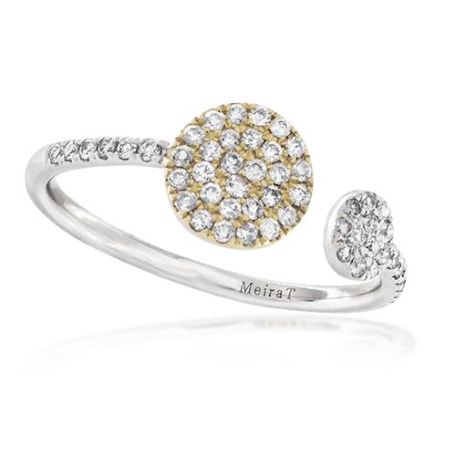 meira t white gold open circle diamond ring