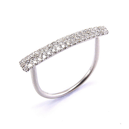 meira t white gold pave diamond bar ring