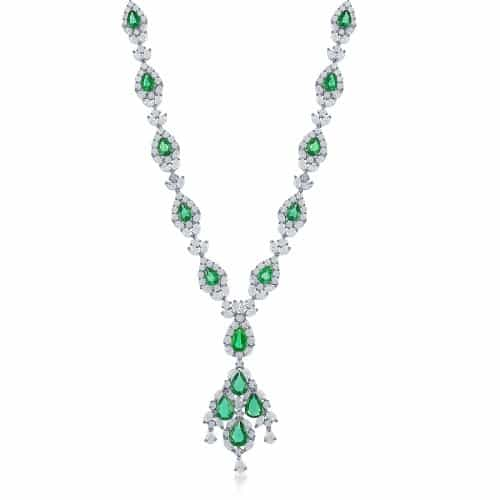 Jewels by Jacob N9951 Emerald Necklace