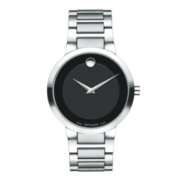 Movado men's modern classic quartz watch.