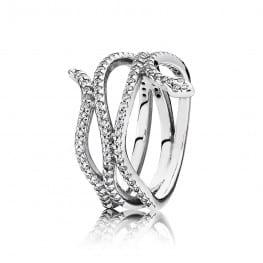 Pandora Swirling Snake, Clear CZ