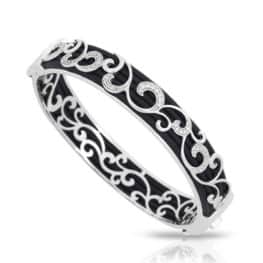 Belle Etoile reina black bangle
